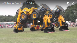 Dancing JCB Backhoes!