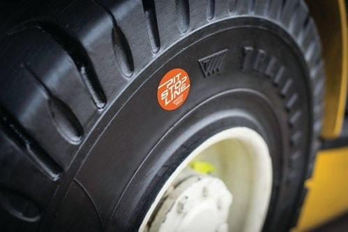 Trelleborgs Pit Stop Line for Forklift Tyres