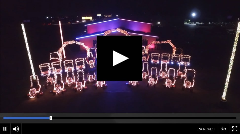 VIDEO: Brilliant Tractor Christmas Light Show