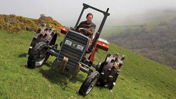Daredevil farmer tackles steep Cornish hills