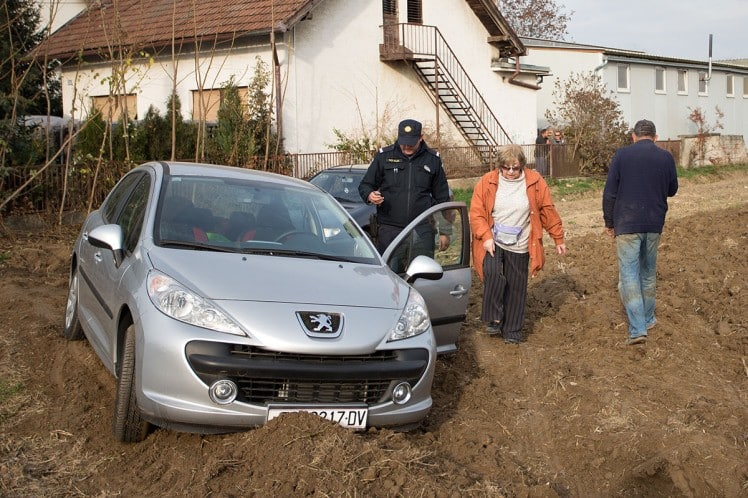 Cars Parked On This Farmer's Land - So He Ploughed The Field Around Them!